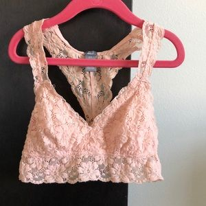 AERIE Peachy-Pink Lace Bralette